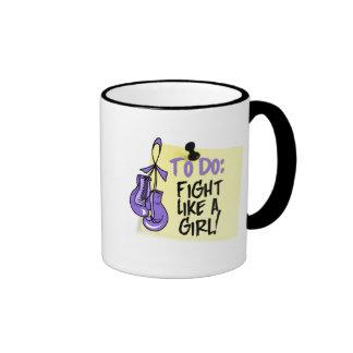 To Do Note - Fight Like a Girl - Hodgkins Lymphoma Mug