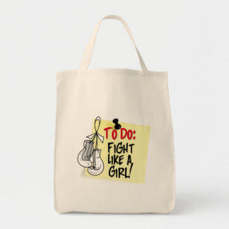 To Do Note - Fight Like a Girl - Lung Cancer Canvas Bags