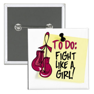 To Do Note - Fight Like a Girl - Multiple Myeloma 2 Inch Square Button