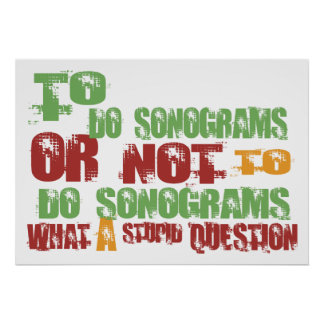 To Do Sonograms Poster