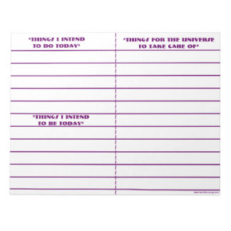 """To Do, To Be, To Manifest"" Notepad (Purple)"