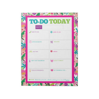 To-Do Today - Bright Floral Notepad