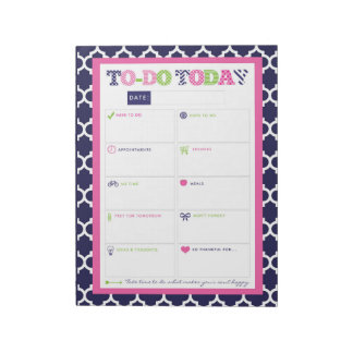 To-Do Today - Preppy Prints & Patterns Notepad