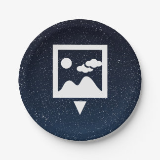 To Download Photos Pictogram 7 Inch Paper Plate