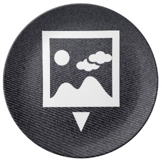To Download Photos Pictogram Porcelain Plate