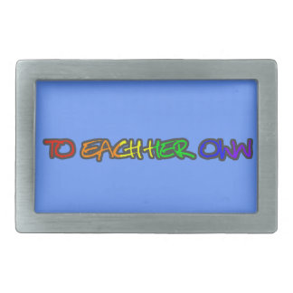 To Each Her Own Belt Buckle Blue