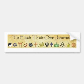 To Each Their Own Journey bumper sticker