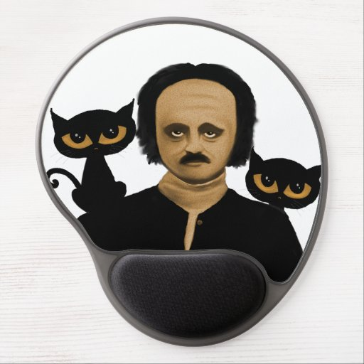 to edgar they allan poe gel mousepad