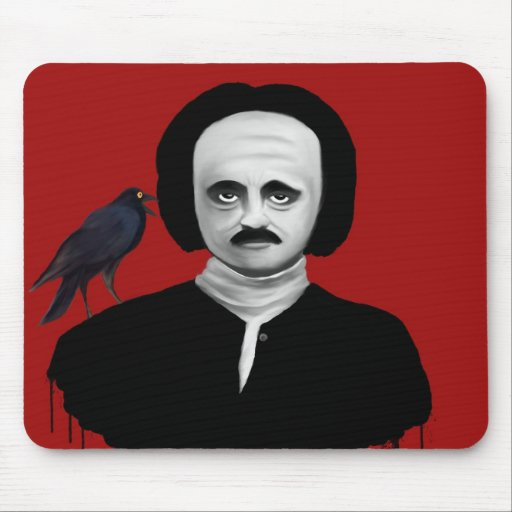 to edgar they allan poe mousepads