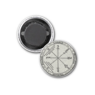 To Enchant Treasures and Against Earthquake 1 Inch Round Magnet