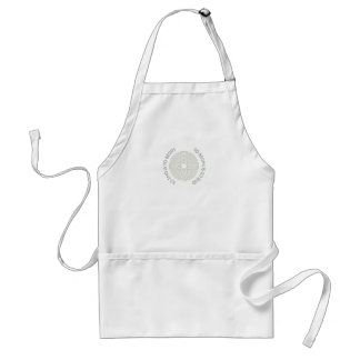 To End is to Begin, To Begin is to End, Teal Adult Apron