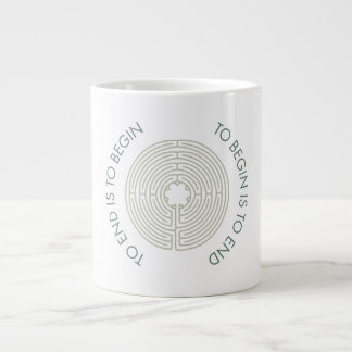 To End is to Begin, To Begin is to End, Teal 20 Oz Large Ceramic Coffee Mug