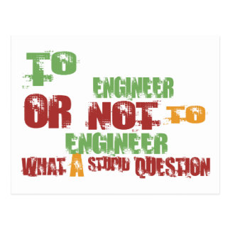 To Engineer Postcard