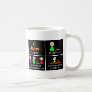 To Err is Human black Coffee Mug