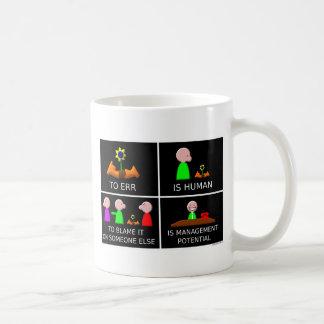 To Err is Human black Coffee Mug