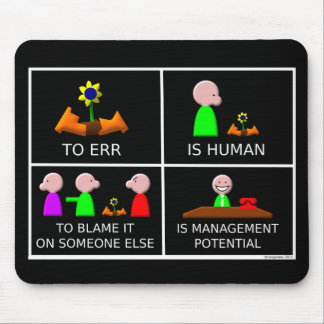 To Err is Human black Mouse Pad