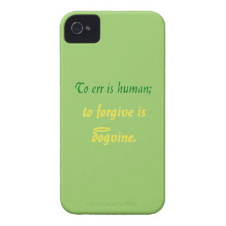 To Err is Human (Dog Version) iPhone 4 Cover