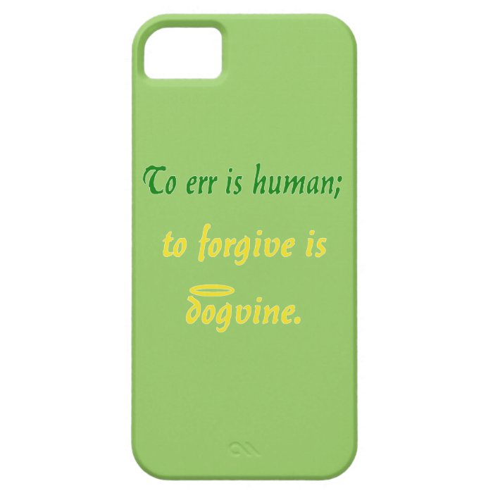 To Err is Human (Dog Version) iPhone SE/5/5s Case