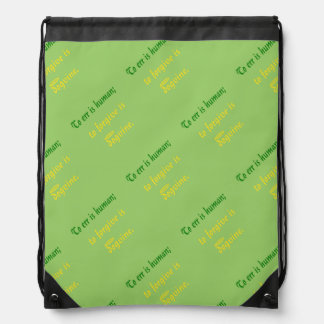 To Err is Human - For Dogs Cinch Bags