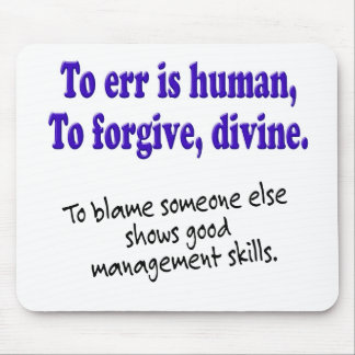 To err is human mouse pad