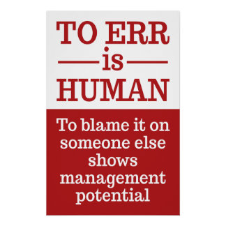 """To err is human"" poster 1"