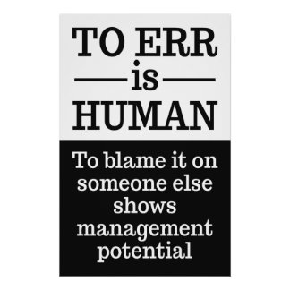 """To err is human"" poster 2"