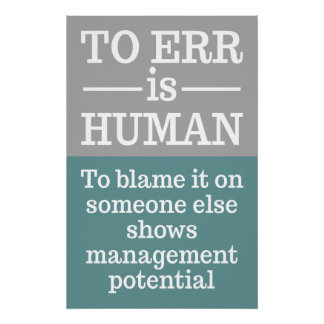 """To err is human"" poster 4"