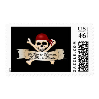 To Err is Human, To Arr is Pirate Postage Stamp