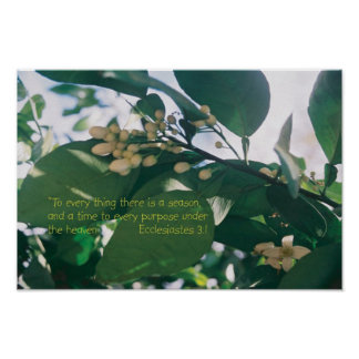 To every thing there is a season Scripture Poster