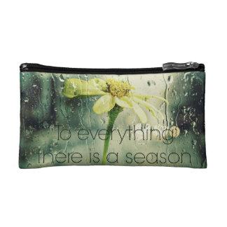 To everything a Season Rain and Flower Window Makeup Bag