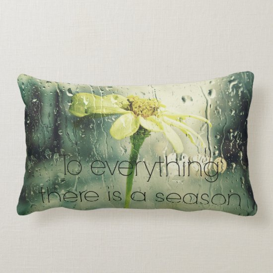 To everything a Season Rain and Flower Window Lumbar Pillow