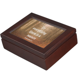 To everything there is a season Bible Verse Keepsake Box
