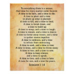 To everything there is a season Ecclesiastes 3 1-8 Poster