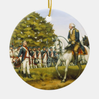 To Execute the Laws of the Union by Donna Neary Double-Sided Ceramic Round Christmas Ornament