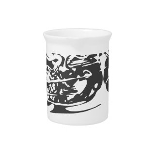 To Fast For You. Motorcycle Racing Beverage Pitcher