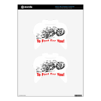To Fast For You. Motorcycle Racing Xbox 360 Controller Decal