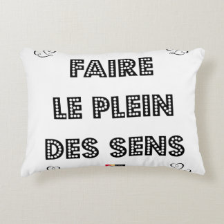 To fill the TANK WITH SENS - Word games Accent Pillow