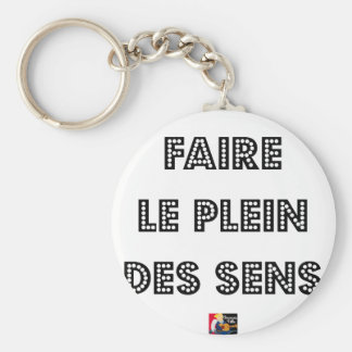 To fill the TANK WITH SENS - Word games Keychain