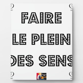 To fill the TANK WITH SENS - Word games Plaque