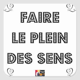 To fill the TANK WITH SENS - Word games Square Sticker