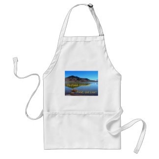 To Find Yourself, First Get Lost Adult Apron