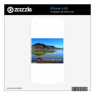 To Find Yourself, First Get Lost iPhone 4S Skin