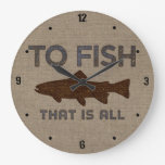 To Fish Burlap Clocks