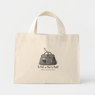 to fish or not stupid question vintage tackle box tote bags