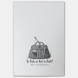 to fish or not stupid question vintage tackle box post-it notes