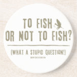 To Fish or Not To Fish? Sandstone Coaster