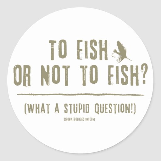 To Fish or Not To Fish? What a Stupid Question! Classic Round Sticker