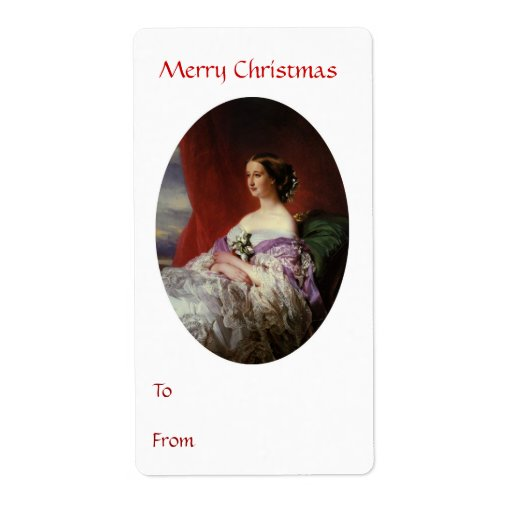 To From Merry Christmas Tag Shipping Label