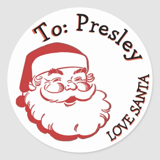 to from santa christmas present labels gift tag zazzle com