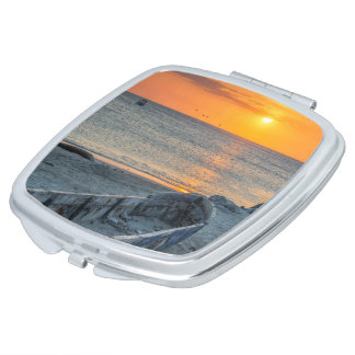 To get late in the Caribbean Sea, Colombia Compact Mirror
